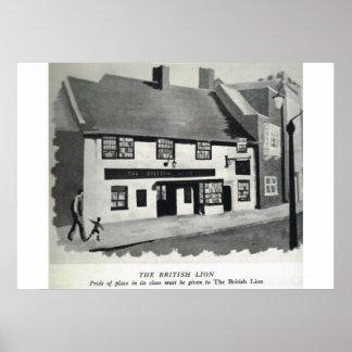 Pensões históricas de Kent, o leão britânico Posters