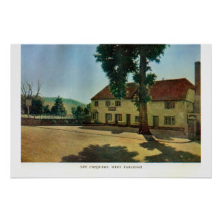 Pensões históricas de Kent, os Chequers, Farleigh  Poster