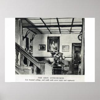 Pensões Kentish históricas, a pensão do navio, Dym Pôster