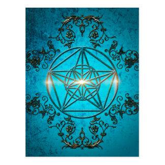 Pentagram, um símbolo mágico cartão postal