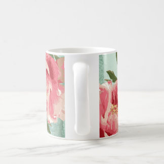 Peônias retros bonito de chintz da flor caneca de café