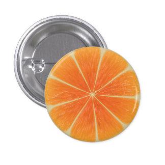 Pequeno alaranjado, 1 botão redondo da polegada do bóton redondo 2.54cm