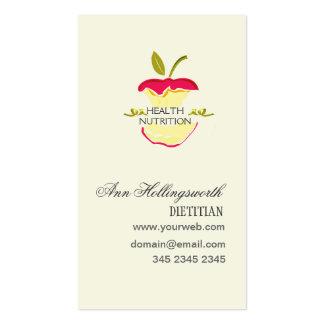 Perda de peso da nutrição da saúde das maçãs cartão de visita