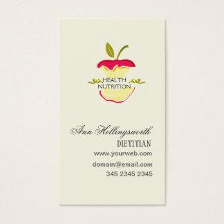 Perda de peso da nutrição da saúde das maçãs cartão de visitas