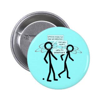 Perdendo um elétron graceje - crachá/botão bóton redondo 5.08cm