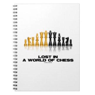 Perdido em um mundo da xadrez (grupo de xadrez caderno