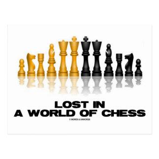 Perdido em um mundo da xadrez (grupo de xadrez cartão postal