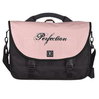 Perfeição cor-de-rosa - saco da viagem ao trabalho pastas para laptop