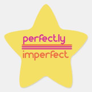 Perfeitamente imperfeito adesito estrela