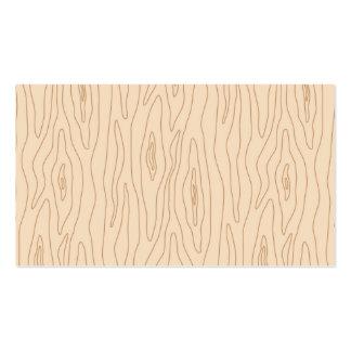 Perfil de madeira abstrato moderno do profissional cartões de visita