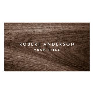 Perfil de madeira escuro do profissional da grão cartão de visita