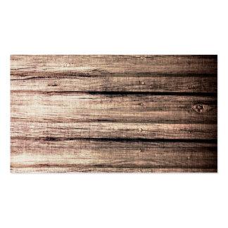 Perfil de madeira velho do profissional da textura cartoes de visita