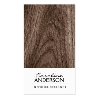Perfil do profissional da grão da madeira de carva cartoes de visita