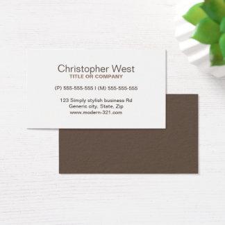 Perfil profissional marrom à moda moderno cartão de visitas