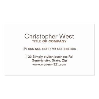Perfil profissional marrom à moda moderno cartao de visita