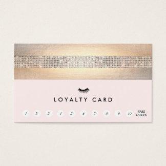 Perfurador cor-de-rosa da lealdade 11 do cliente cartão de visitas