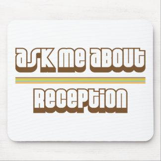 Pergunte-me sobre a recepção mousepad