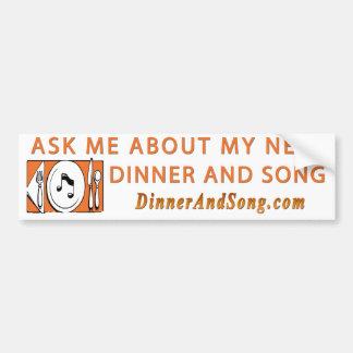 Pergunte-me sobre o bumpersticker do DNS Adesivo Para Carro