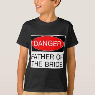 Perigo - pai do t-shirt engraçado do casamento da