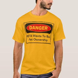 Perigo: PETA quer proibir a posse do animal de T-shirt