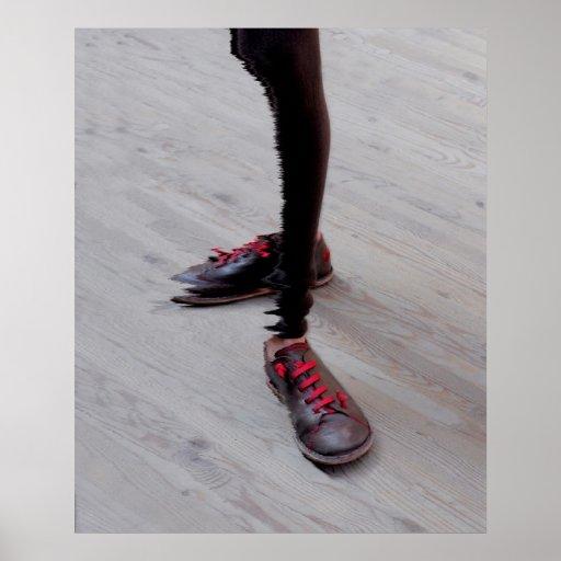 Pernas de mulher com calçado, abstractamente, impressão