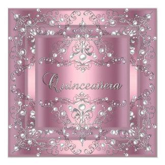 Pérola cor-de-rosa da 15a festa de aniversário de