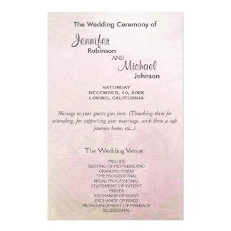 Pérola cor-de-rosa do programa | do casamento flyer 13.97 x 21.59cm