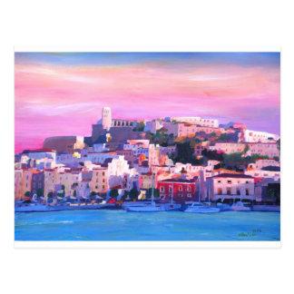Pérola velha da cidade e do porto de Ibiza Eivissa Cartão Postal