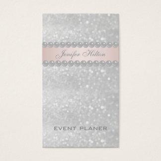 Pérolas glittery modernas elegantes profissionais cartão de visitas