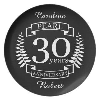 Perolize o 30o aniversário de casamento 30 anos louças de jantar