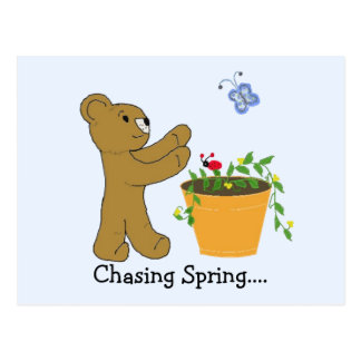 Perseguindo o primavera…. cartões postais