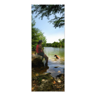 Persiga a observação no lago ladybird - Austin Impressão De Foto