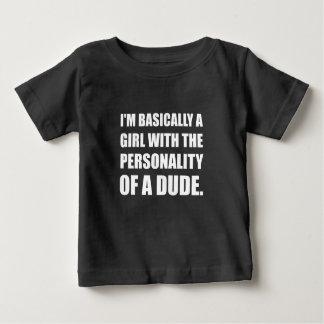 Personalidade da menina do gajo camiseta para bebê