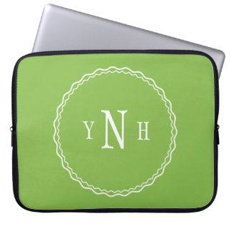 Personalizable com monograma da três-letra sleeve para laptop