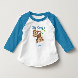 Personalizado adicione um primo grande dos macacos camiseta