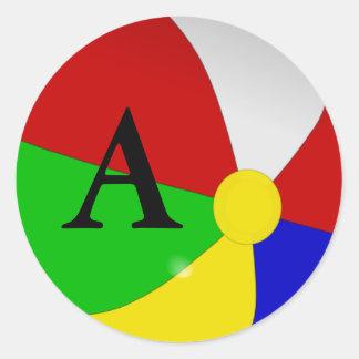 Personalizado com suas etiquetas iniciais da bola adesivos em formato redondos