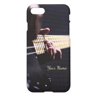Personalizado jogando o fim da guitarra baixa capa iPhone 7