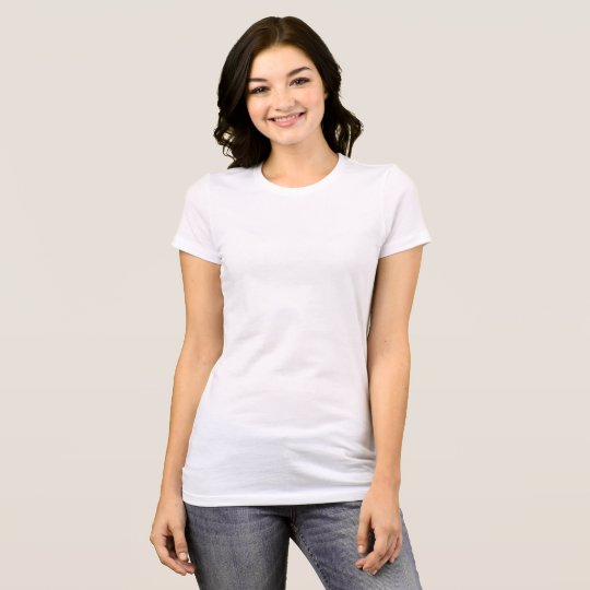 Camiseta feminina Favorite, Bella+Canvas, Branco