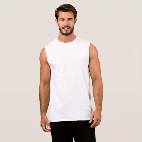 Camiseta sem Mangas de Algodão Ultra, Branco