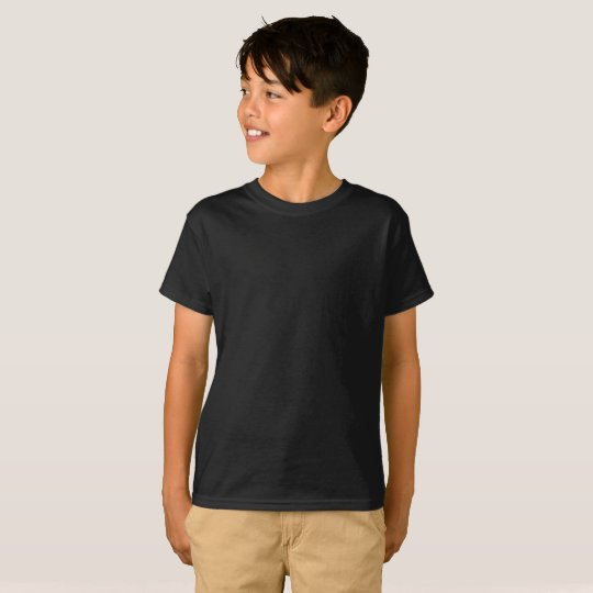 Camiseta infantil sem etqueta da Hanes TAGLESS®, Preto