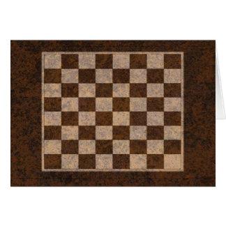 Personalize esta xadrez, verificadores, cartão de