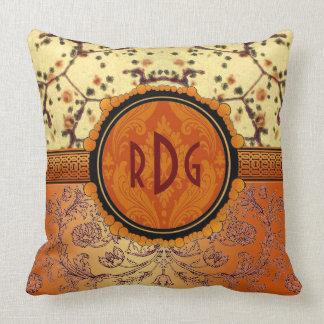 Personalize estas laranja e oxidação bonitas travesseiro de decoração