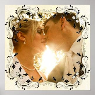 Personalize este poster lindo da foto do casamento