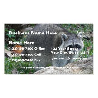 (Personalize) foto peludo do guaxinim Cartão De Visita