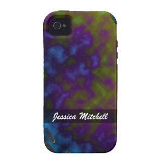 Personalize o abstrato roxo azul do verde capas para iPhone 4/4S