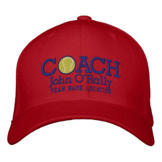 Personalize o boné do treinador de tênis seu nome
