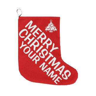 Personalize o estoque do Feliz Natal Meia De Natal Grande