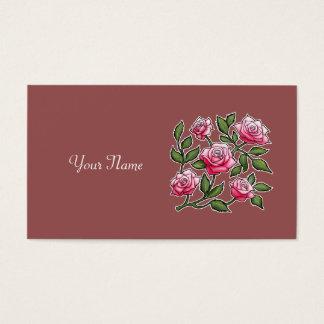 Personalize o nome - Marsala aumentou Cartão De Visitas