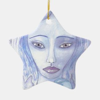 Personalize o produto ornamento de cerâmica estrela