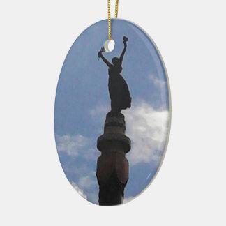Personalize o produto ornamento de cerâmica oval